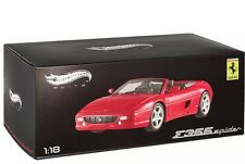 HOT WHEELS ELITE BLY34 1:18 FERRARI F355 SPIDER CONVERTIBLE RED Diecast 1/18