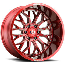 4 Vision 402 Riot 20x9 6x55 12mm Redmilled Wheels Rims 20 Inch Fits More Than One Vehicle
