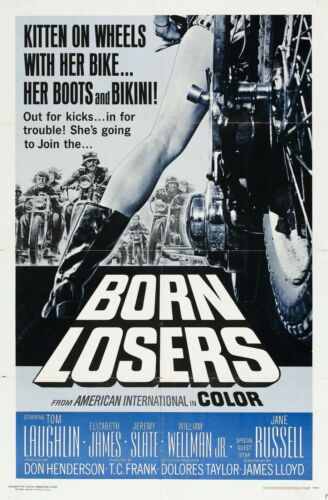BORN LOSERS Movie Silk Fabric Poster Exploitation Billy Jack Grindhouse