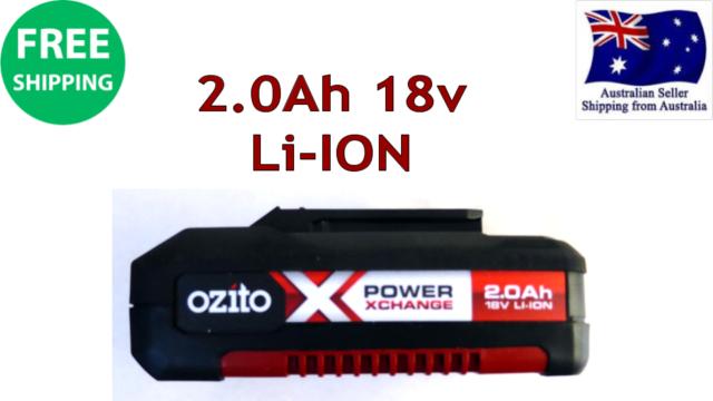 Ozito PowerX Change 18V 2.0Ah Li-Ion Battery Built-in Eco Charge Drill tool DIY