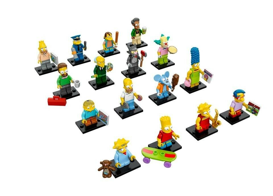 NEW LEGO 71005 Complete Set of 16 MINIFIGURES MINIFIGURES MINIFIGURES SERIES S - Simpsons 521e6e