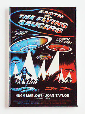 Earth vs Flying Saucers FRIDGE MAGNET (2.5 x 3.5 inches) movie poster
