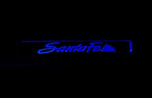 Blue Color LED Door Scuff Molding 4P 1Set For 07 08 09 Hyundai Santa Fe CM