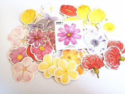 1 box 45 PCS flowers album diary stationery Envelope Seal Scrapbooking Sticker