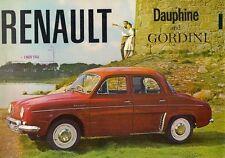 Renault Dauphine & Gordini 1961-62 UK Market Sales Brochure