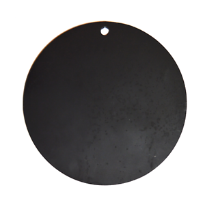 """Four AR500 Steel Circle 8/"""" x 3//8/"""" Thick Target Shooting Practice Painted Black"""