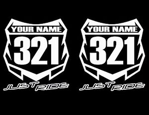 Motocross Number Plate Decal Sticker Custom Name # Mx Moto. Seven Decals. Tough Signs Of Stroke. Batman Signs Of Stroke. Fat Signs Of Stroke. Green Lightning Banners. Tobacco Free Signs. Blackboard Wall Murals. Timing Murals