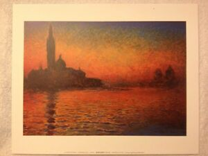 Image Is Loading Claude Monet 034 Crepuscolo Art Print 7