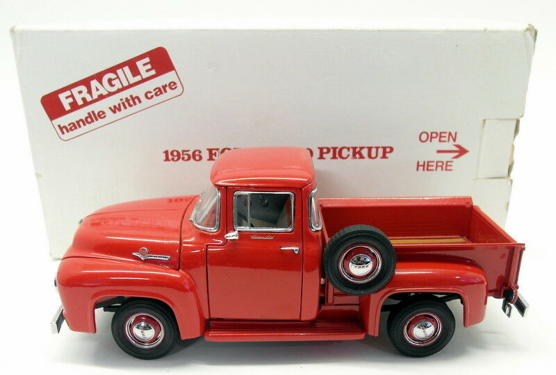 Danbury mint 1 24 scale diecast - 828-006 1956 ford f-100 pickup-red