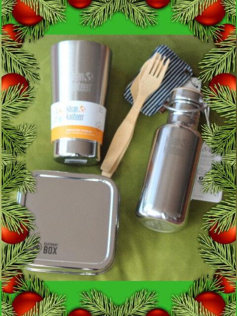 Reutilizable botella de agua de acero inoxidable, taza de café, caja de almuerzo, Tenedor conjunto cero residuos de bambú