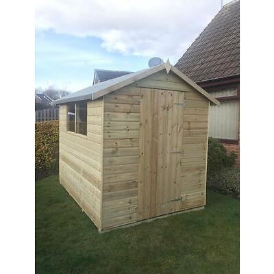 Tongue and Grooved Tanalised Factory Seconds Garden Shed Wooden Apex T&G Hut