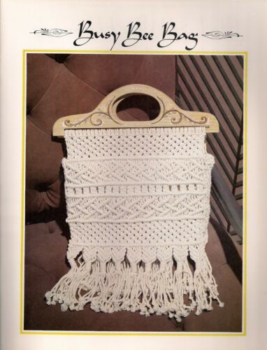 Macrame Wood Handle Purse Pattern BOOK ONLY # Z07 Juliano's Hang It All Book 3