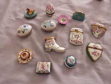 Lot 13 boîtes à pilules trinket porcelaine Limoges Haviland... ancienne