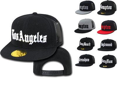 045e2c4ef4cf29 Old English City Logo Campton Inglewood LA Snapback Flat Bill Baseball Caps  Hats   eBay