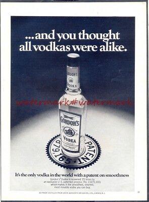 Gordon S Vodka Vintage Original Not Repro Advertisement Free Uk Postage Ebay