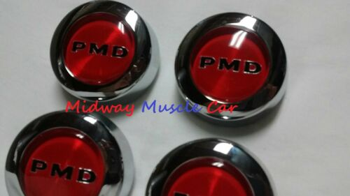 NEW red PMD rally 2 II wheel center cap set 70 71 72 Pontiac GTO Firebird T//A