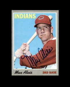 Max Alvis Hand Signed 1970 Topps Cleveland Indians Autograph