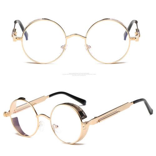 Vintage Polarized Steampunk Sunglasses Retro Cool Round Mirrored Lens Glasses