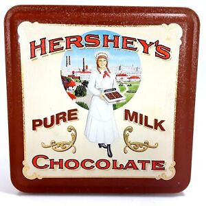 1992-Hershey-039-s-Chocolate-Vintage-Edition-2-Collectible-Tin-The-Hershey-Girl