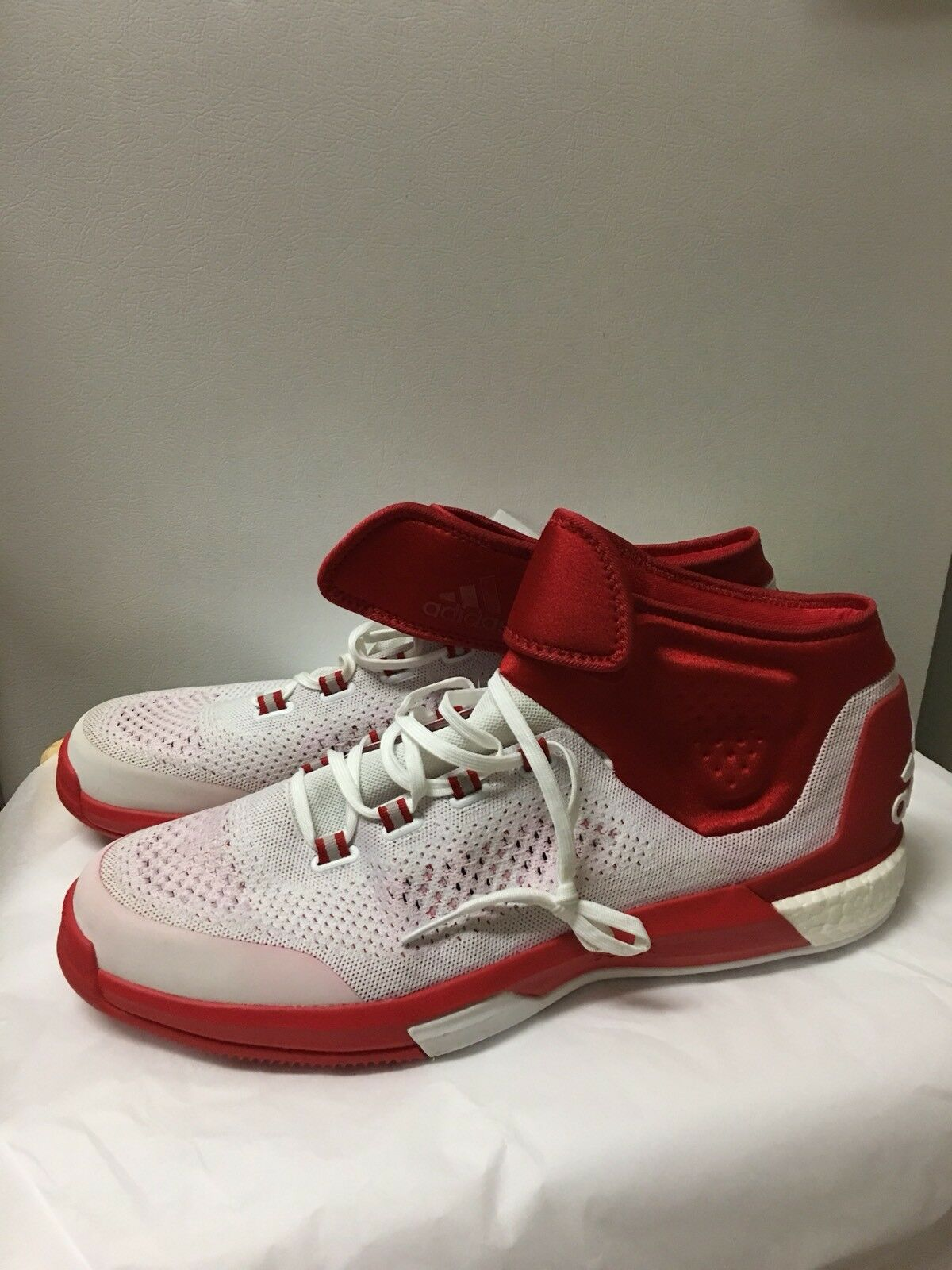 Adidas Crazylight Boost Techfit Men's Basketball Shoes Size 20 Red & White