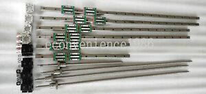 HGR20-500-1500-2900mm-Linear-rail-amp-RM2505-500-1500-2900-2900mm-Ballscrew-amp-BF-BK20