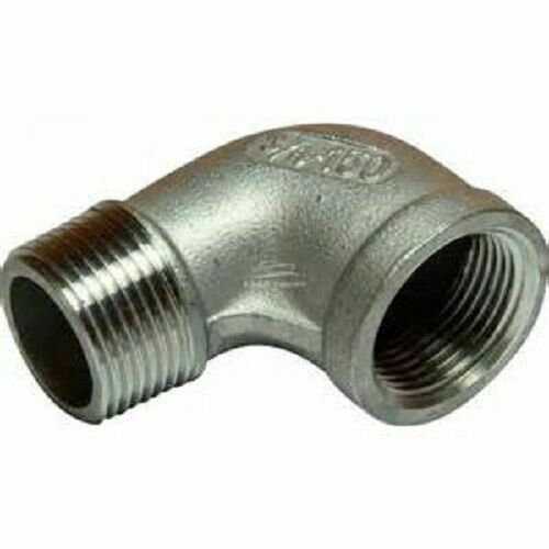 90 Degree Elbow M/F BSP Pipe Fitting Stainless Steel 316 A4 Grade 150lb All Size