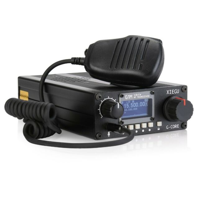 Amateur Radio XIEGU G1M SDR SSB/CW 0 5-30MHz Moblie Radio HF Transceiver  Ham QRP