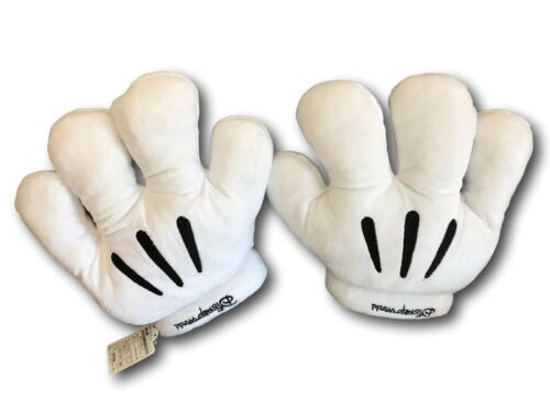 Men//Women Minnie Mickey Mouse Costume Cosplay Halloween White Gloves Pair Small