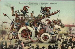 Nice-France-Carnaval-1909-Elaborate-Parade-Float-Artist-Drawn-Postcard-13