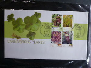AUSTRALIA-2013-CARNIVOROUS-PLANTS-SET-4-STAMPS-FDC-FIRST-DAY-COVER