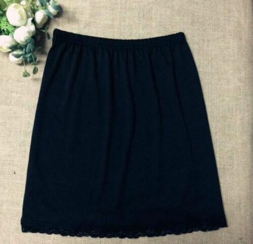 Women Waist Intimate Ladies Black White Underskirt Petticoat Half Slips Dress