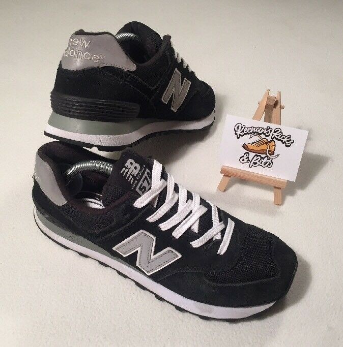 Chaussures Femme New Balance 574 En Daim Noir Running Baskets UK 5  Vintage Gym 90 S 80s'