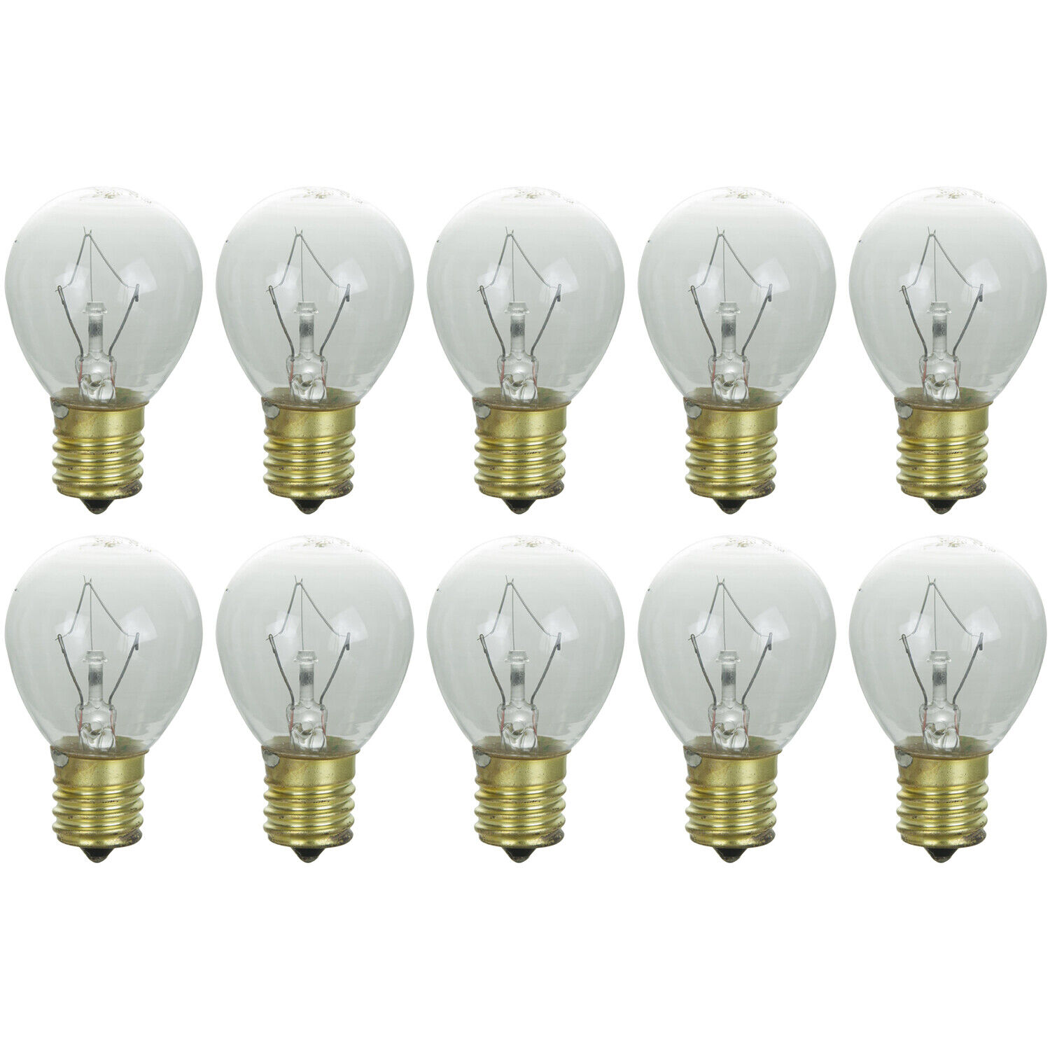 SATCO S3622 10W 120V S11 E17 BASE FROSTED INCANDESCENT FAN BULB PACK OF 10