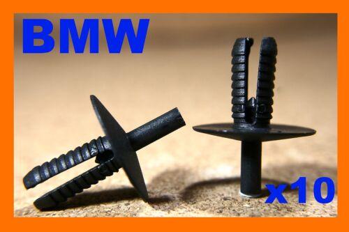 For BMW 10 bumper fender fascia trim panel scratch strip push fastener clips