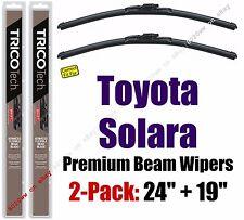 Wipers 2 Pack Premium Wiper Beam Blades - fit 2004-2008 Toyota Solara 19240/190