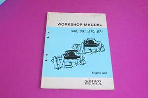 volvo penta workshop manual 500 501 570 571 engine units publ rh ebay com Volvo Penta Wiring-Diagram 03 Volvo Penta 4.3