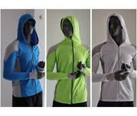 Mens Fishing Shirt Clothes Breathable Long Sleeve Quick Dry Hooded Top Sunproof