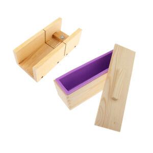 DIY Laib Seifenform Silikon Seifenform mit Holzkiste