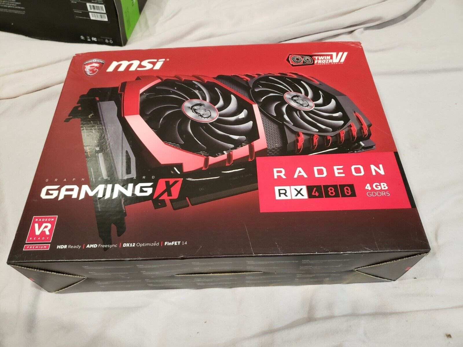 Box for MSI RX 480 GDDR5 4GB OC - BOX ONLY - NO GRAPHICS CARD - BOX ONLY
