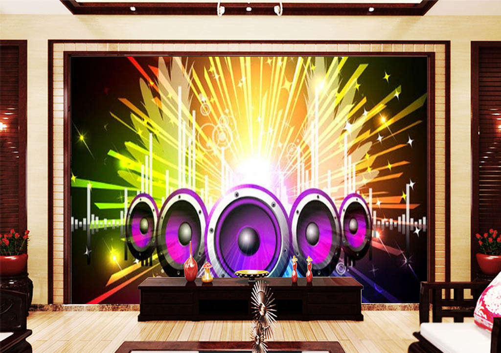 The Dynamic Sound 3D Full Wall Mural Photo Wallpaper Printing Home Kids Decor