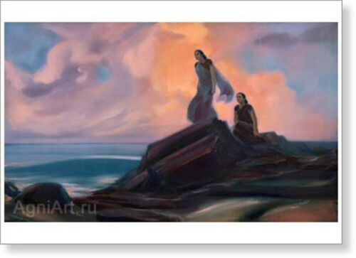 Expectation. By Svetoslav Roerich. Fine art print NEW 20 x 28
