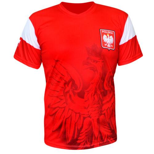 T-shirt Koszulka Lewandowski Polen Eagle Football Poland Polska Patriotic Red