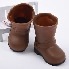 New 1Pair Brown Rain Boots Shoes For Girl 18 Inch Doll Toy Kids Gift Accessory