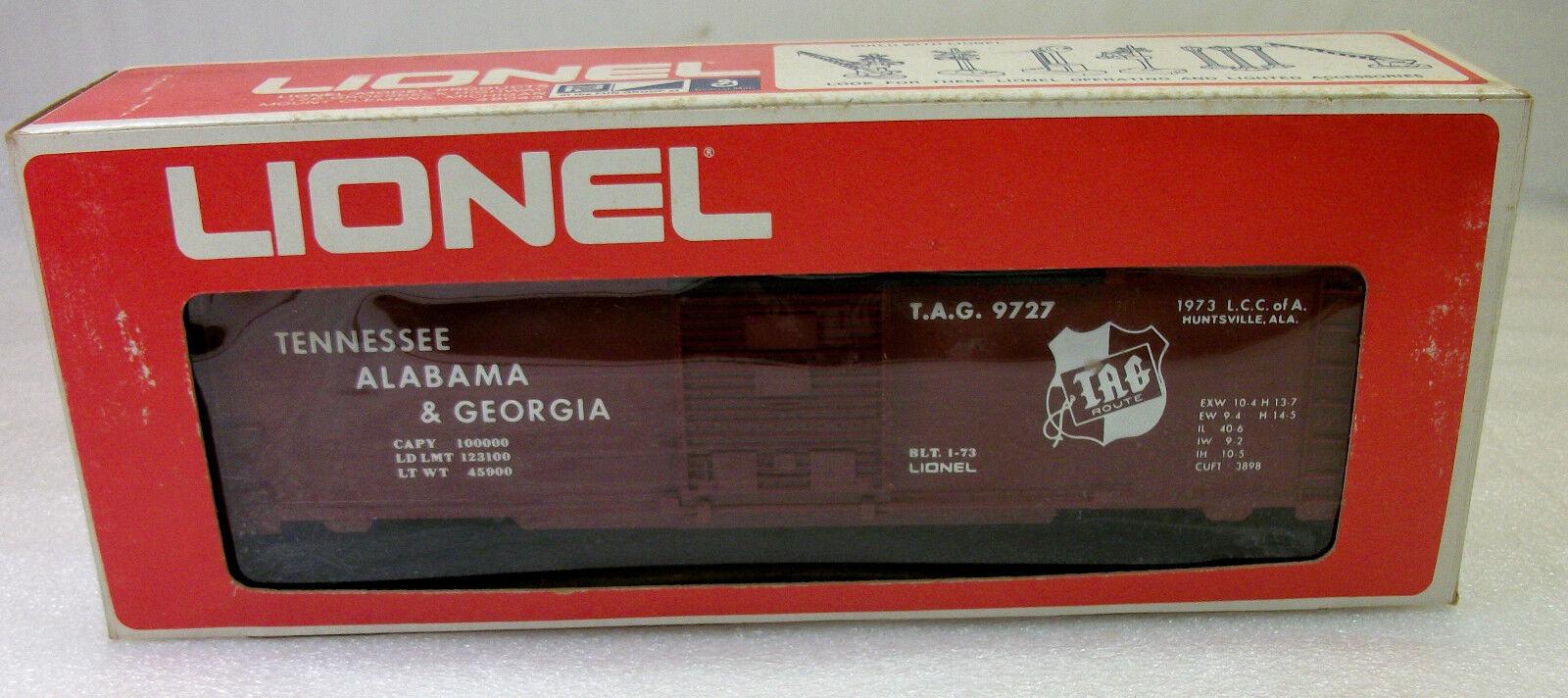 LIONEL  9727 T.A. & G 1973 LCCA CONVENTION scatola auto UNcorrere C9 FBN IN ORIGINAL scatola