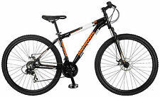 "29"" Mongoose Men's Impasse Mountain Bike Disc Brakes, Black Orange"