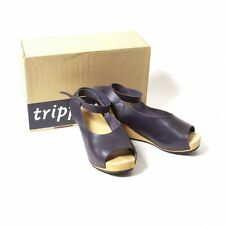 trippen Orinoco Wood sole leather sabot sandals Size 38(K-46076)