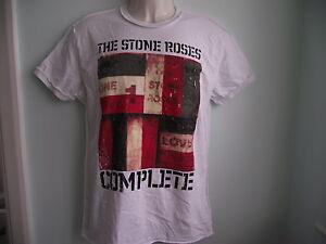 NUOVO-Amplified-Stone-Roses-COMPLETO-COVER-album-ARTE-maglietta-bianca-S