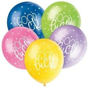 5-x-Good-Luck-Helium-Quality-12-034-Latex-Balloons-Mixed-Colours-Party-Decoration