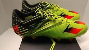 5ab621b63cf1 Adidas MESSI 15.1 FG/AG Soccer Cleats Semi Solar Slime S74679 Men's ...