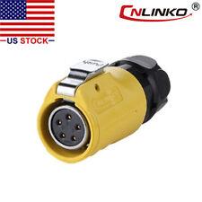 5 Pin Power Circular Industrial Connector Female Plug Outdoor Waterproof Ip67